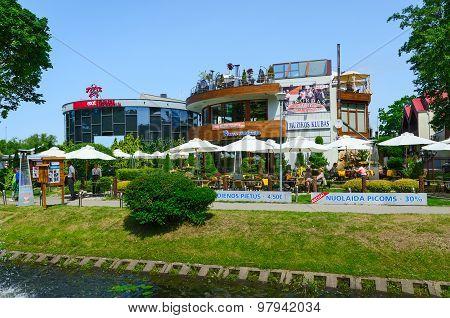 Cafe Floros Simfonija on Street Basanaviciaus, Palanga, Lithuania