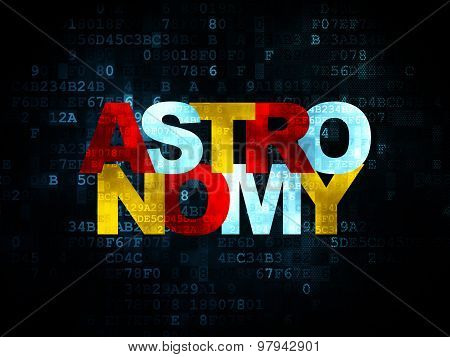 Education concept: Astronomy on Digital background