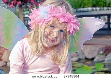 little fairy girl with wings