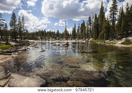 Toulumne River in California's Yosemite National Park