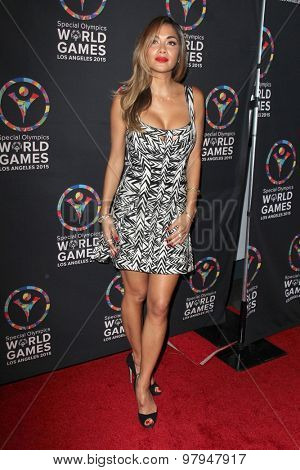 LOS ANGELES - JUL 31:  Nicole Scherzinger at the Special Olympics Inaugural Dance Challenge at the Wallis Annenberg Center For The Performing Arts on July 31, 2015 in Beverly Hills, CA