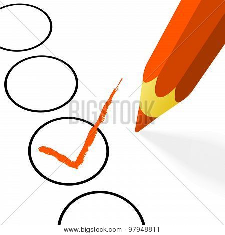 Orange Pencil With Hook