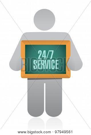 24-7 Service Board Sign Concept