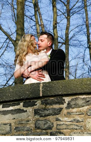 Couple in love in the garden