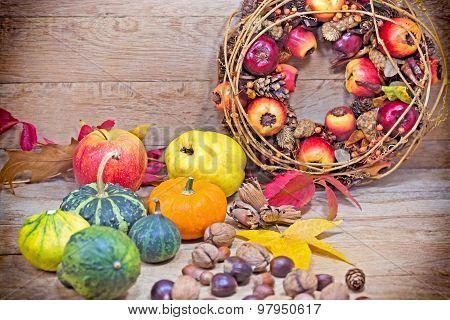 Autumn harvest - Autumn fruits