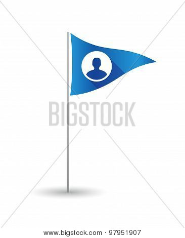 Golf Flag With A Male Avatar