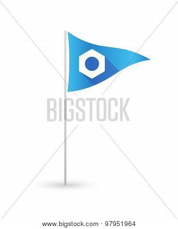 Golf Flag With A Nut