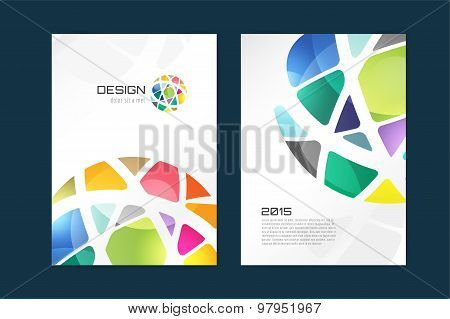 Vector globe brochure template. Abstract arrow design and creative magazine idea, blank, book cover