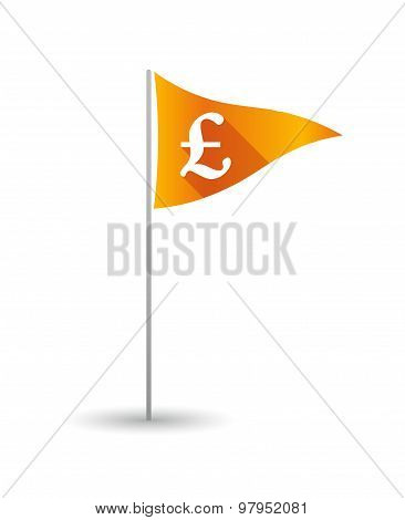 Golf Flag With A Pound Sign