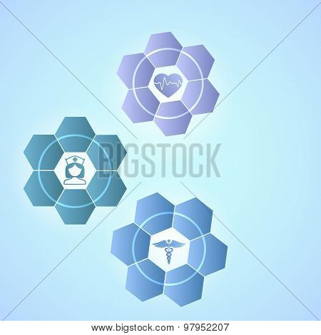 Techno Flower Medicine Concept Brochure Template