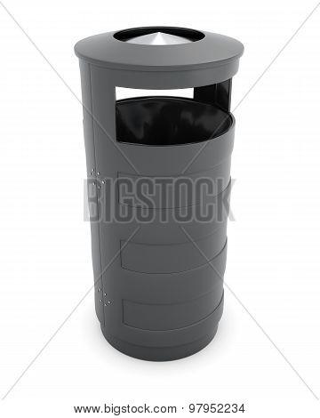Metal Recycle Garbage Trash Can