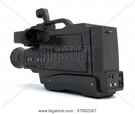 Camcorder Isolated On White Background.