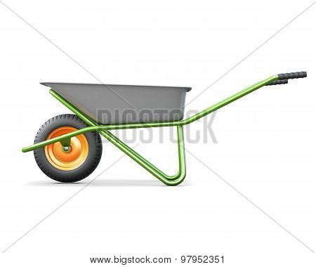 Wheelbarrows For Construction Side View