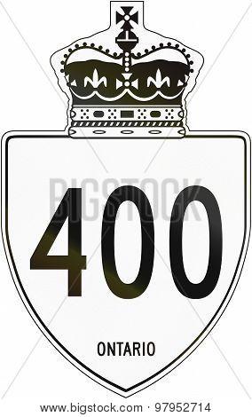 Ontario Highway Shield 400