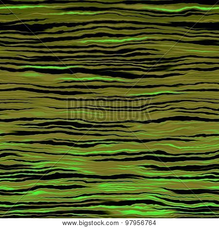 Green Waves Pattern Made Seamless