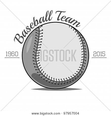 Baseball Ball label
