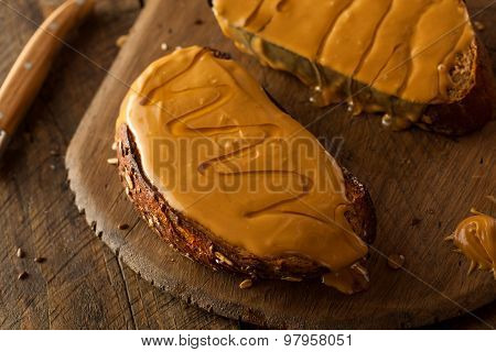 Gourmet Peanut Butter And Honey Toast
