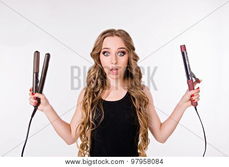 Girl Chooses To Be With Straight Hair Or Curly
