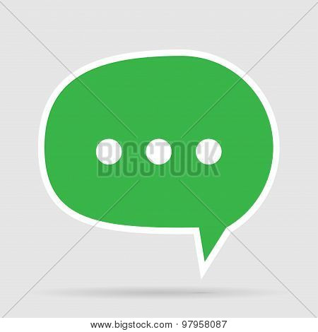 Green Message Bubble