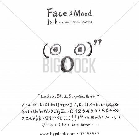 Face Mood Shock Surprise Horror Font