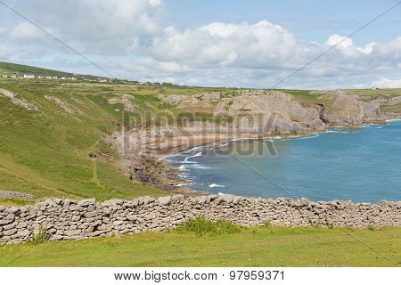 The Gower coast South Wales UK Fall Bay near to Rhossili beach and Mewslade Wales coast path