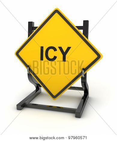 Road Sign - Icy