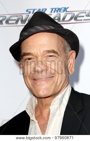 LOS ANGELES, CA - AUGUST 1: Robert Picardo arrives at the premiere of Star Trek: Renegades at the Crest Theatre on August 1, 2015 in Los Angeles, CA.