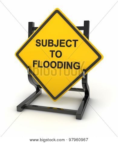 Road Sign - Subject To Flooding