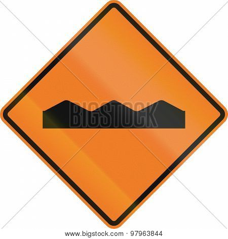 Temporary Rough Road In Canada