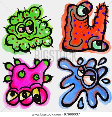 Cartoon Germs