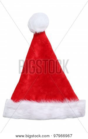 Santa Claus Hat On Christmas In Winter Isolated