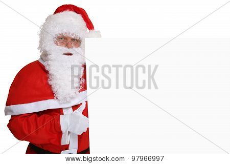 Santa Claus Thumbs Up On Christmas Super Good With Copyspace