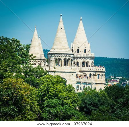 Budapest, Hungary - June 06, 2015: fishermen Bastion on the Castle Hill in Budapest