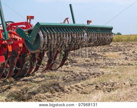Loosening the soil.