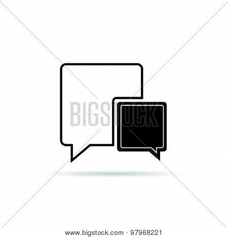 Comic Speech Bubble Black Vector