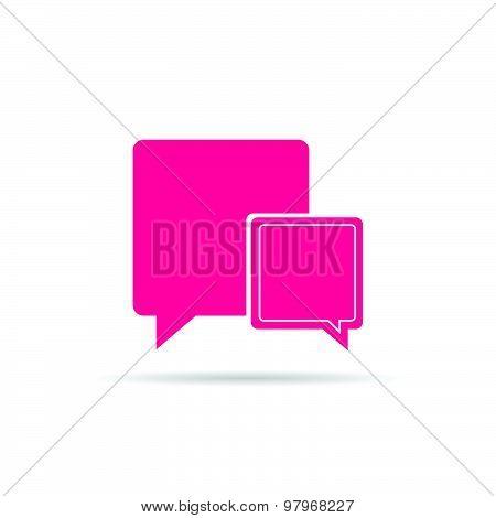 Comic Speech Bubble Pink Vector