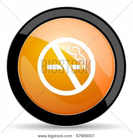 no smoking orange icon