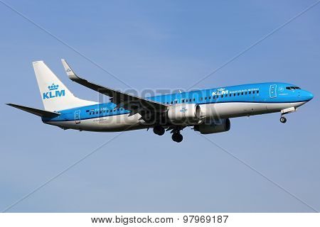 Klm Royal Dutch Airlines Boeing 737-800 Airplane
