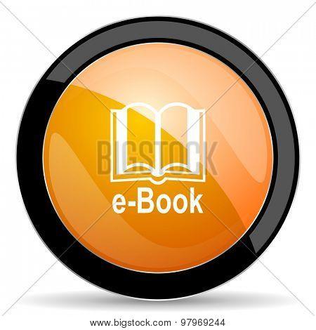 book orange icon e-book sign