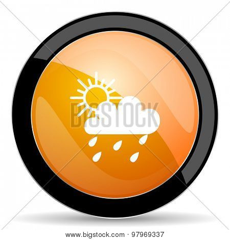 rain orange icon waether forecast sign
