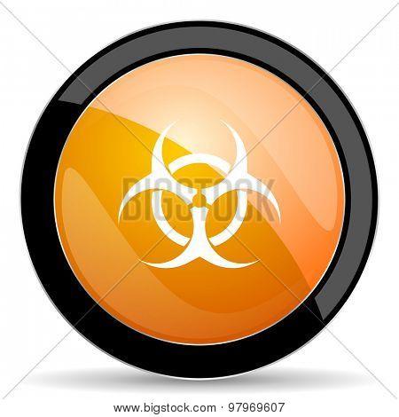 biohazard orange icon virus sign