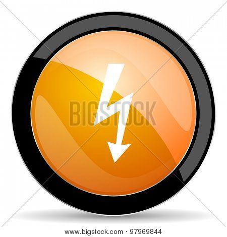 bolt orange icon flash sign