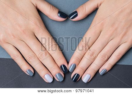 Female hands with a stylish neutral manicure
