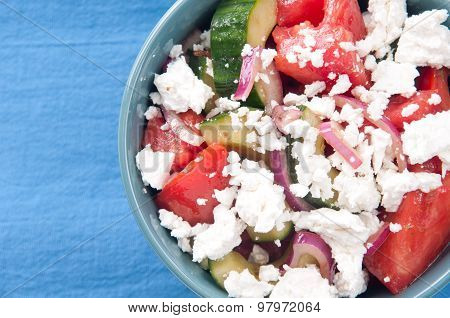 Gluten Free Greek Salad, Tomato And Cucumber With Feta