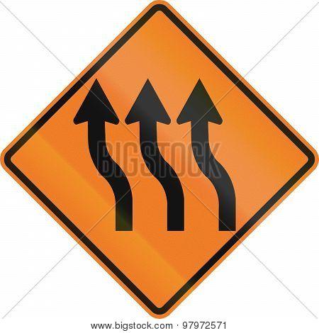 Three Lane Reverse Curve In Canada