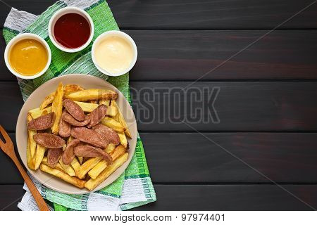 Salchipapas South American Fast Food