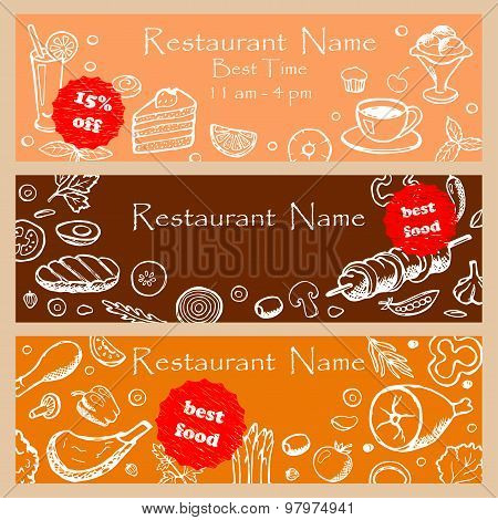 Set discount fliers for restaurants
