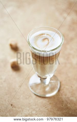 Glass of Caffe Latte