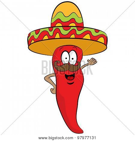 An image of a cartoon red pepper.