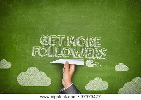 Get more followers concept